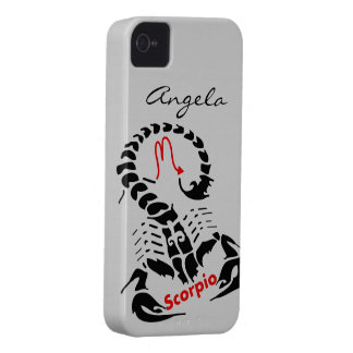 Personalized Black Scorpio Zodiac Scorpion Symbol iPhone 4 Case
