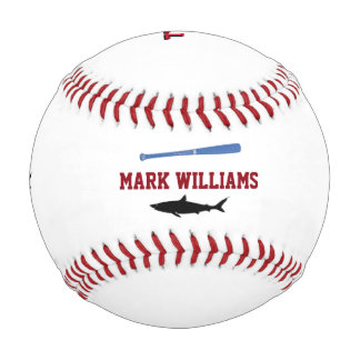 personalized black shark baseball