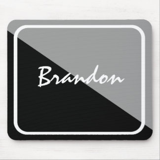 Personalized Black & Silver Mousepad Low-Price