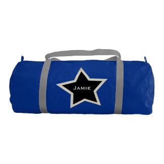 Personalized Black Star Duffel Bag