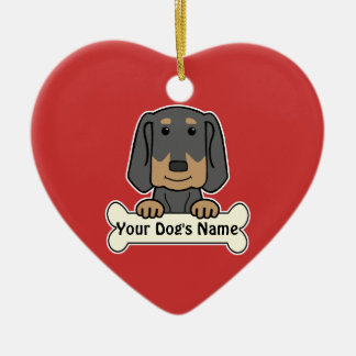 Personalized Black & Tan Coonhound Ceramic Ornament