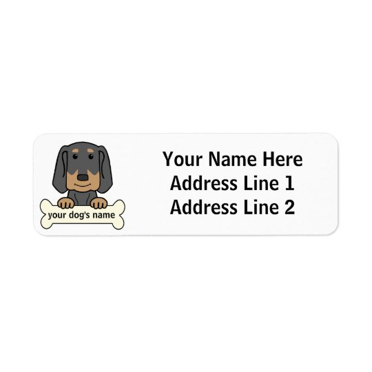Personalized Black & Tan Coonhound Label