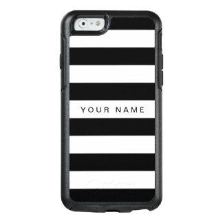 Personalized Black & White Striped OtterBox iPhone 6/6s Case