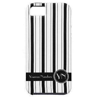 Personalized Black White Stripes Pattern Executive iPhone SE/5/5s Case