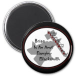 Personalized Blacksmith 2 Inch Round Magnet