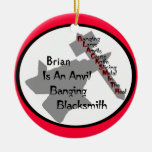 Personalized Blacksmith Christmas Tree Ornaments