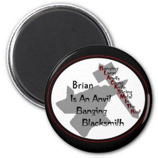 Personalized Blacksmith Refrigerator Magnets
