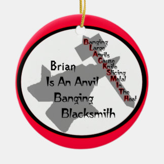 Personalized Blacksmith Christmas Tree Ornaments