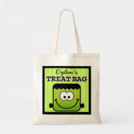 Personalized Blockhead Monster Halloween Treat Bag