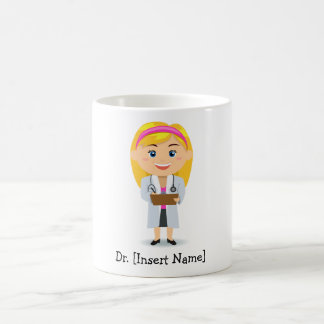 Personalized Blonde Female Doctor Coffee Mug