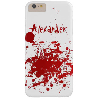 Personalized Blood Spatter Design Barely There iPhone 6 Plus Case