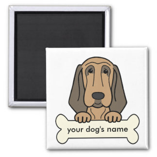 Personalized Bloodhound 2 Inch Square Magnet