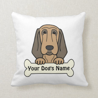 Personalized Bloodhound Throw Pillows