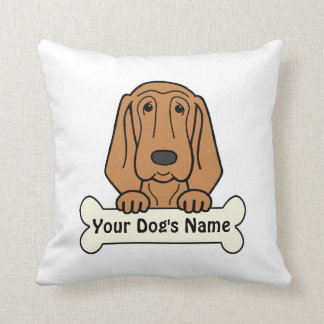 Personalized Bloodhound Throw Pillow