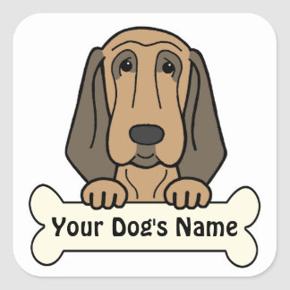 Personalized Bloodhound Square Sticker