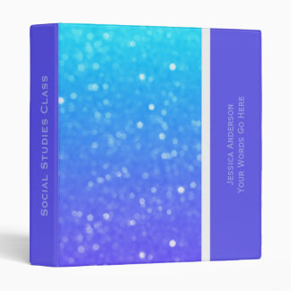 Personalized: Blue And Purple Glimmer Binder