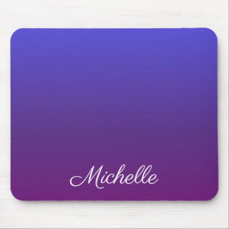 Personalized blue and purple ombre mouse pad