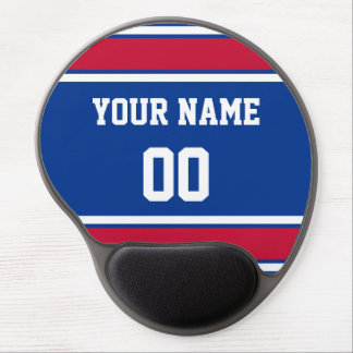 Personalized Blue and Red Sports Stripes Gel Mouse Pad