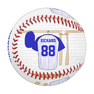 Personalized Blue and White Baseball Jersey