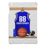 Personalized Blue and White Basketball Jersey iPad Mini Cases