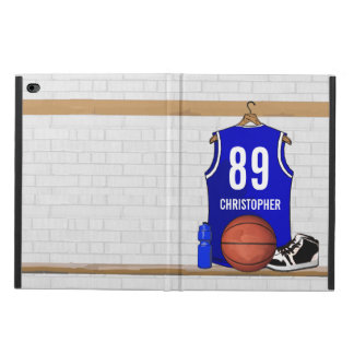 Personalized Blue and White Basketball Jersey Powis iPad Air 2 Case