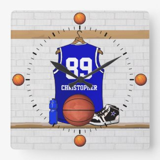 Personalized Blue and White Basketball Jersey