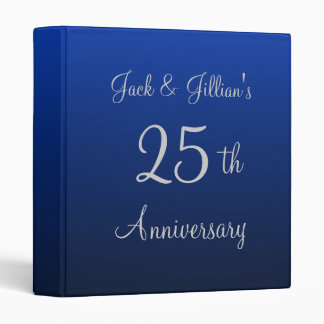 Personalized Blue Anniversary Binder