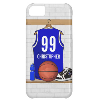 Personalized Blue Basketball Jersey iPhone 5C Covers