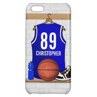 Personalized Blue Basketball Jersey Case For iPhone 5C