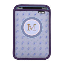 personalized blue bicycle pattern sleeve for iPad mini