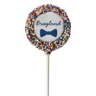Personalized Blue Bow Tie Cake Pops Chocolate Covered Oreo Pop