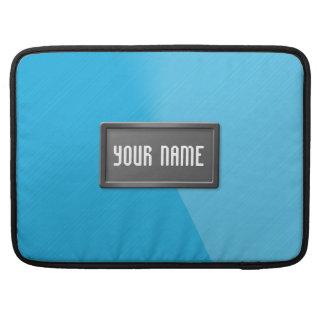 Personalized Blue Brushed Metal - Macbook Sleeve