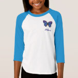 Personalized Blue Butterfly T-Shirt