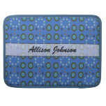 Personalized blue circle pattern sleeves for MacBooks