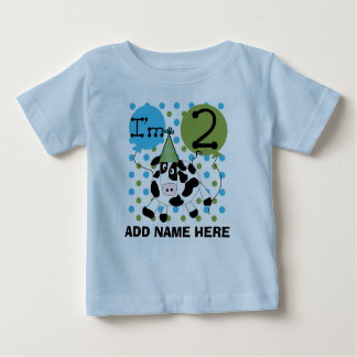 Personalized Blue Cow 2nd Birthday Tshirt