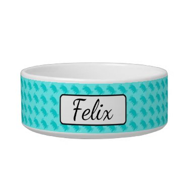 Beach Themed Personalized Blue Crabs Beachy Cat Bowl