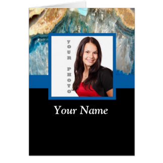 Personalized blue crystal template card