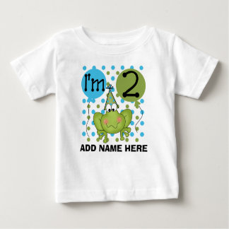 Personalized Blue Frog 2nd Birthday Tshirt