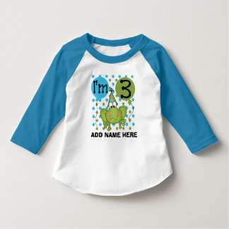 Personalized Blue Frog 3rd Birthday Tshirt