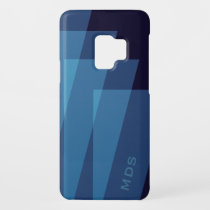 Personalized Blue Geometric Case-Mate Samsung Galaxy S9 Case
