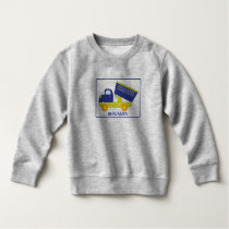Personalized Blue & Green Construction Dump Truck Sweatshirt