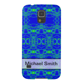 Personalized Blue green lace like abstract pattern Cases For Galaxy S5