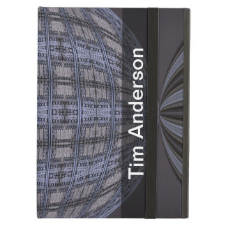 Personalized blue grey global abstract iPad cover