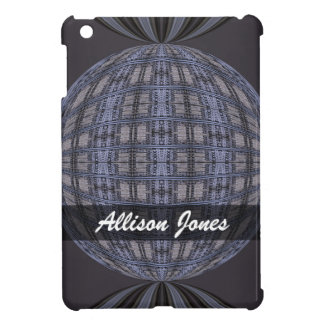 Personalized blue grey global abstract cover for the iPad mini