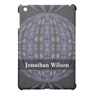 Personalized blue grey global abstract iPad mini covers