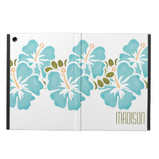 PERSONALIZED BLUE HIBISCUS iPad AIR COVERS