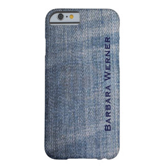 personalized blue jeans barely there iPhone 6 case
