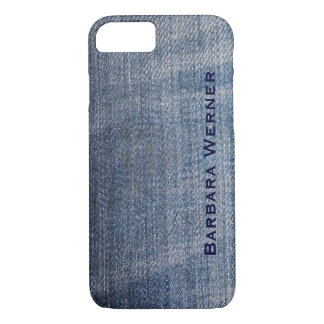 personalized blue jeans iPhone 7 case