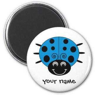Personalized Blue Ladybug Magnet