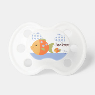 """Personalized """"Blue Lagoon Fish"""" Pacifier"""